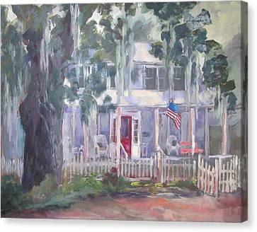 Gander House Canvas Print by Susan Richardson