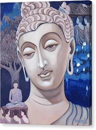 Gandhara Buddha Canvas Print by Vishwajyoti Mohrhoff