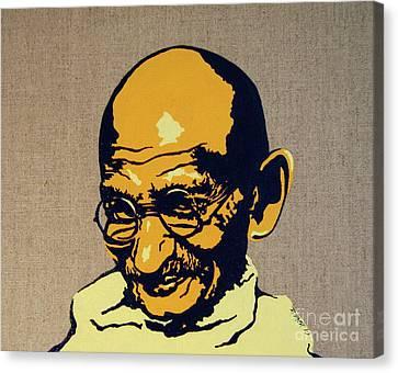 Gandhi Canvas Print by Rebecca Mott
