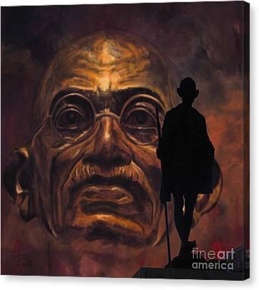 Gandhi - The Walk Canvas Print by Richard Tito