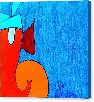 3 Ganesh Lambodaray Canvas Print by Kruti Shah