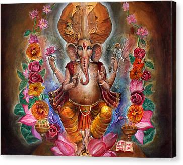 Ganesh Canvas Print by Vera Atlantia