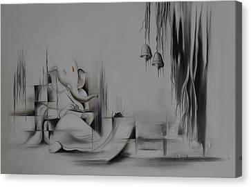 Ganesha Anantachidrupamayam Canvas Print by Durshit Bhaskar