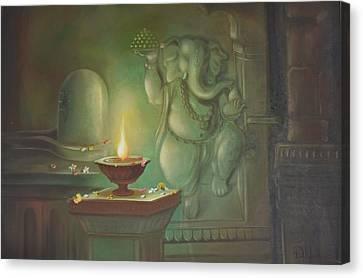 Ganesha Buddhipriya Canvas Print by Durshit Bhaskar
