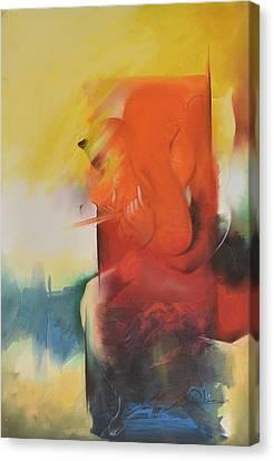 Ganesha Devendrashika Canvas Print by Durshit Bhaskar