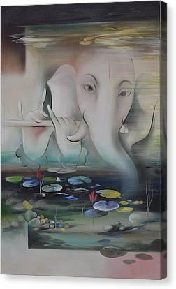 Ganesha Ganadhakshya Canvas Print by Durshit Bhaskar