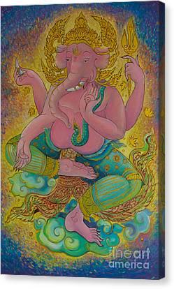 Ganesha God Of Hindu Canvas Print by Tosporn Preede