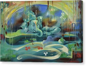 Ganesha Kaveesha Canvas Print by Durshit Bhaskar