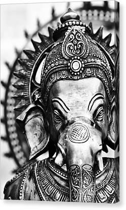 Tim Canvas Print - Ganesha Monochrome by Tim Gainey