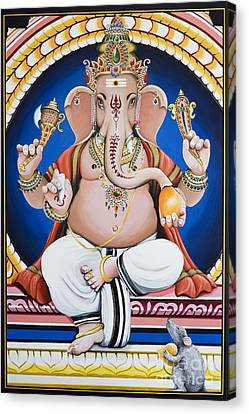 Ganesha Painting Canvas Print by Tim Gainey