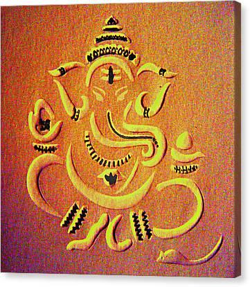 Ganesha Pietyz Canvas Print by Piety Dsilva