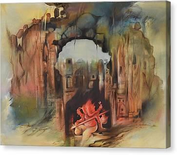 Ganesha Shashivarnam Canvas Print by Durshit Bhaskar