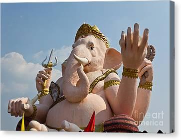 Ganesha Statue Canvas Print by Tosporn Preede