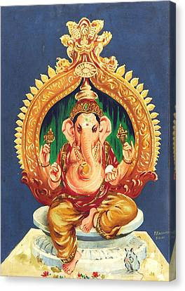 Ganesha- The God Of Success Canvas Print