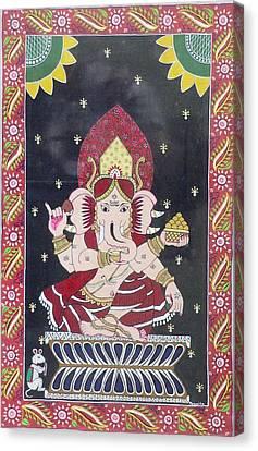 Ganesha The Hindu God Canvas Print by Prasida Yerra