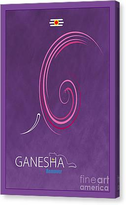 Ganesha The Remover Canvas Print by Tim Gainey