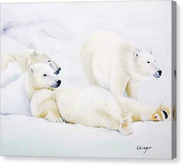 Gang Of Brothers Canvas Print by Jean Yves Crispo