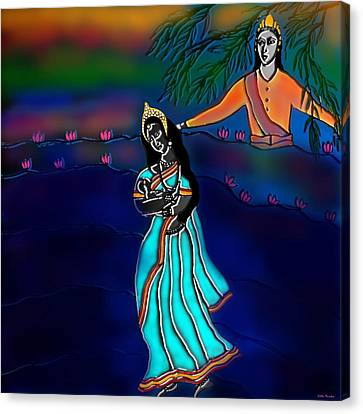 Ganga Devi And Santhanu Canvas Print