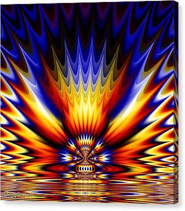 Ganges River Coloring.  2013  80/80 Cm.  Canvas Print by Tautvydas Davainis