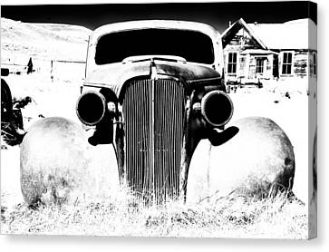 Gangster Car Canvas Print by Cat Connor