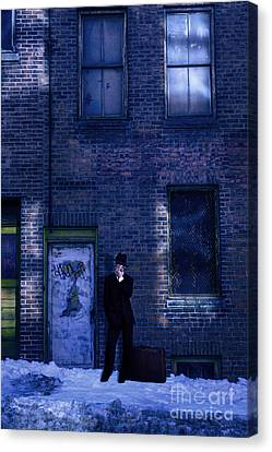 Gangster On A Dark Street Canvas Print