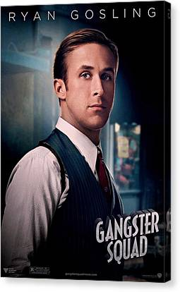 Gangster Squad Gosling Canvas Print by Movie Poster Prints