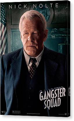 Gangster Squad Nolte Canvas Print by Movie Poster Prints