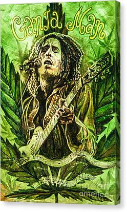 Ganja Man Canvas Print by Igor Postash