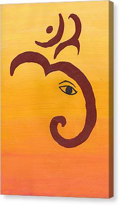 Ganpati- Om Canvas Print by Melissa Vijay Bharwani