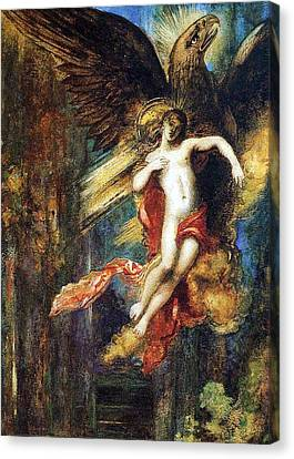 Youthful Canvas Print - Ganymede by Gustave Moreau