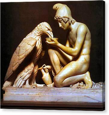 Ganymede Waters Zeus  Canvas Print by Berthel Thorvaldsen