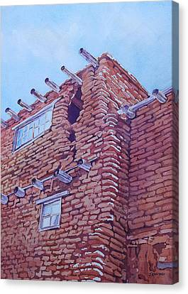 Gap In The Wall Canvas Print by Jenny Armitage