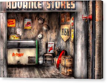 Garage - Advance Stores  Canvas Print by Mike Savad