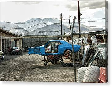 Garage Days Palm Springs Canvas Print by William Dey