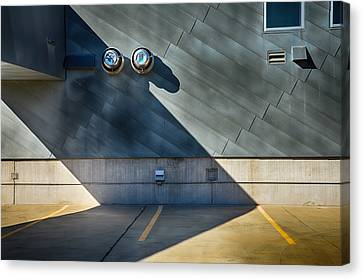 Rooftop Canvas Print - Garage Rooftop by Angelina Vick