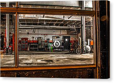 Garage Window Canvas Print by Ray Congrove