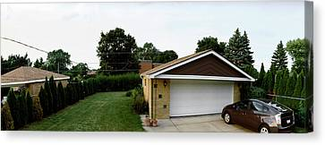 Garage With Hybrid Car, Stelle, Rogers Canvas Print by Panoramic Images