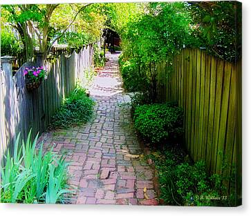 Garden Alley Canvas Print by Brian Wallace