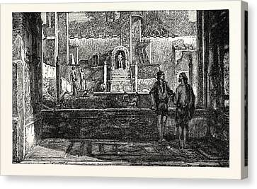 Garden And Fountains Of The House Of Lucretius Canvas Print