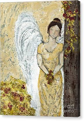 Garden Angel Canvas Print by Kirsten Reed