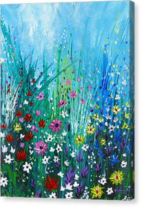 Garden At Early Morning Canvas Print by Kume Bryant