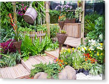 Garden Beautiful Canvas Print by Boon Mee