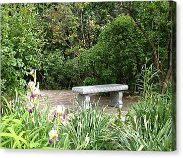 Garden Bench Canvas Print by Pema Hou