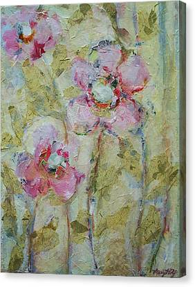 Canvas Print featuring the painting Garden Bliss by Mary Wolf