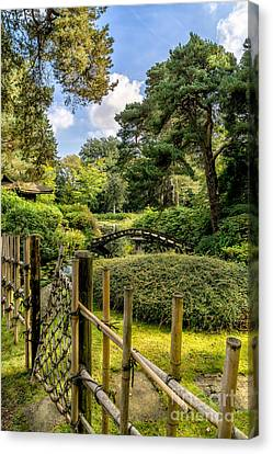 Garden Bridge Canvas Print by Adrian Evans