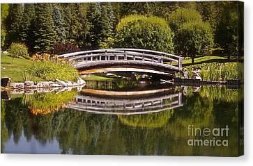 Garden Bridge Canvas Print by Linda Bianic