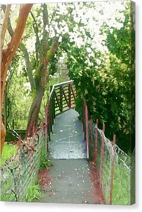 Garden Bridge Canvas Print by Tamyra Crossley
