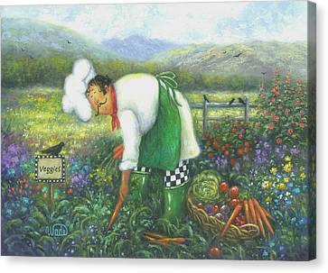 Garden Chef Canvas Print
