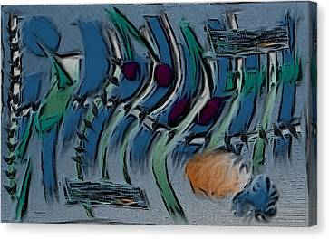 Garden City Abstract Blue Canvas Print by Barbara St Jean