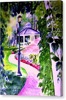 Garden City Gazebo Canvas Print by Sandy Ryan